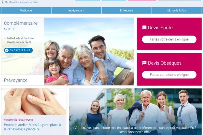 Découvrez le nouveau site de votre mutuel Miltis : miltis.fr