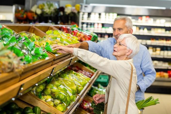 Seniors supermarché