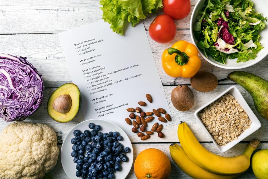 Repas équilibré famille