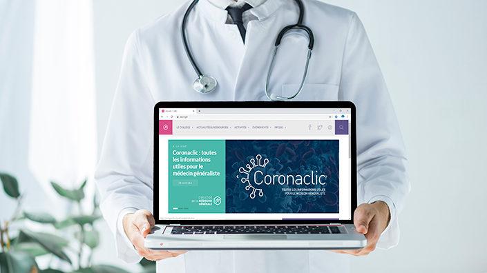 Coronaclic.fr nouveau site informations pour les médecins généralistes MILTIS