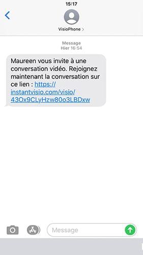 Alerte SMS Instant Visio