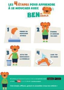 Ben le koala Affiche Se moucher - ben-le-koala.com