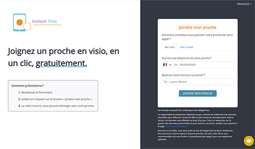Homepage Instant Visio